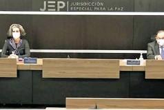 ?? ARCHIVO ?? Magistrados de la JEP durante una audiencia.