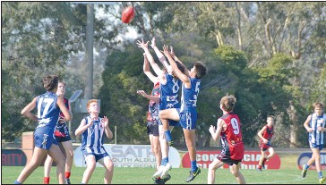 ??  ?? It was a great day for the Under 14's who came away comfortable winners against Wodonga.