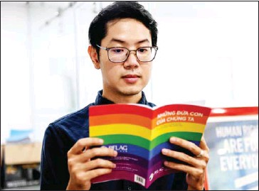?? AFP ?? Luong The Huy, who is currently director of the Vietnamese NGO iSEE, has been campaigning for a decade to improve the lives of the Vietnamese LGBTQ community.