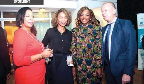 ??  ?? Board Chair of WARIF, Erelu Angela Adebayo ( left); founder of WARIF, Dr. Kemi Dasilva Ibru; WARIF ambassador, Kate Henshaw; and Consul General, German Embassy, Ingo Herbert at an event to mark the International Women's Day (IWD) at the British Deputy High Commission's residence in Lagos.
