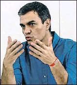 ?? EMILIO NARANJO / EFE ?? El líder del PSOE, Pedro Sánchez