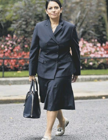 ??  ?? Priti Patel received the support of the Prime Minister despite the inquiry's findings