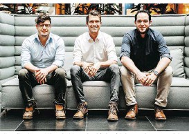 ??  ?? Nik Redl, Lukas Fechtig und Mirko Vodegel (v.l.n.r.) haben zerolens gegründet