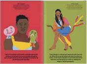 """??  ?? ACCANTO . Dalla issue n. 2 di """"Nansen"""", due delle otto storie con cui Kalaf Epalanga, musicista portoghese, racconta chi ha influenzato la sua storia. Qui, l'attore Welket Bungué e l'artista Grada Kilomba in un'illustrazione di Amanda Baeza, art director Eva Goncalves. IN ALTO. Issue n. 2 di """"Renk""""."""