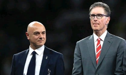 ?? Photograph: Mike Egerton/PA ?? Tottenham's Daniel Levy and Liverpool's John W Henry at the 2019 Champions League final.