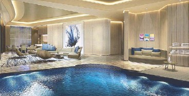 ??  ?? The pool villa is inspired by the super yacht