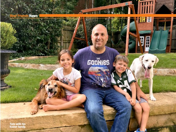 ??  ?? Tate with his foster family