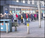 ??  ?? Queuing issues at the centre have now improved