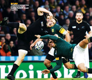 ??  ?? INCHES The Boks were just two points away from making the 2015 World Cup final.