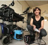 ?? Owen Egan, McGill University photo ?? Dr. Joëlle Pineau working on an AI-enhanced robotic wheelchair.