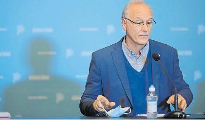 ?? MAURICIO NIEVAS. ?? Conferencia. El ministro de la Provincia Daniel Gollan, y una polémica por los datos.