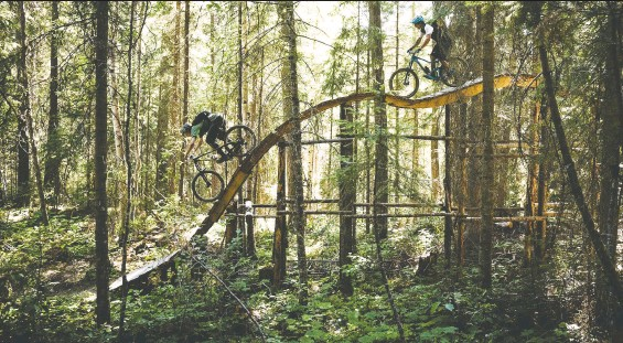 ?? DAVE SILVER / DESTINATION BC ?? Mountain bikers will be drawn to the Pidherny trail network in Prince George or the Otway Nordic Centre, where ski runs turn to bike trails in summer.