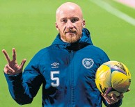??  ?? Liam Boyce with the match ball on Friday night