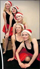 ?? SCOTT WEBSTER/The Windsor Star ?? Tickets are available for St. Clair College's A St. Clair Christmas, which takes place next month. Performers include Lauren Blanchard, bottom, Mandy London, Christine Lindo, Raven Mullan and Hillary Wirachowsky.