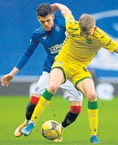 ??  ?? Hibs visit Ibrox to face the champions this afternoon