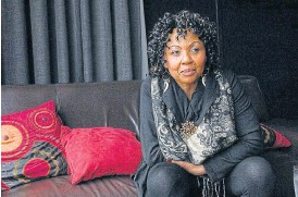 ?? /Robert Tshabalala ?? Serious occupation: Nomsa Nene left her career as an actress to become an estate agent. It is not a last resort job for those fallen on hard times, she maintains.