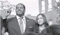 ?? ALGERINA PERNA/BAL­TI­MORE SUN ?? The IRS placed a $45,000 lien on prop­erty owned by Bal­ti­more power cou­ple Nick Mosby and his wife, Marilyn Mosby.