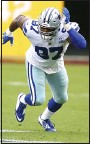 ?? DANIEL KUCIN JR. — THE ASSOCIATED PRESS ?? Dallas Cowboys defensive end Everson Griffen (97) in action during an Oct. 25 game against Washington in Landover, Md.