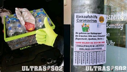 """??  ?? """"Coronavirus shopping help"""" - Ultras in Stuttgart offered to fetch groceries and shopping for vulnerable people during the pandemic"""