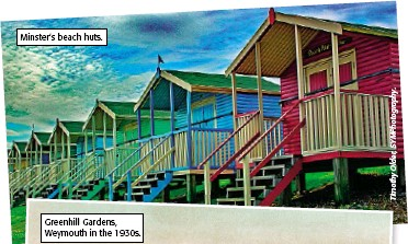 ??  ?? Minster's beach huts.