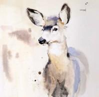 """??  ?? Indigo, watercolor, 8 x 8"""""""