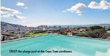 ??  ?? ENJOY the plunge pool at this Cape Town penthouse.