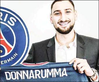 ??  ?? Gianluigi Donnarumma...joins PSG from Milan