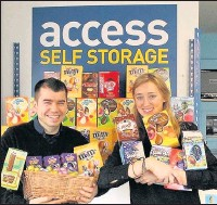 ??  ?? Staff at Access Self Storage in Camberley are appealing for donations of Easter eggs.