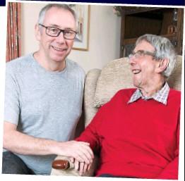 ??  ?? Support: Colin, left, with fellow stroke victim Trevor Vokins