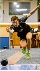 ?? Foto: Thomas Madel ?? David Kern toppt mit 627 Kegeln die starken Resultate seiner Kollegen noch.