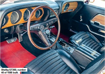 ??  ?? Shelby GT350, number 40 of 1085 built.