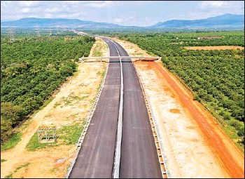 ?? SUPPLIED ?? Construction of the Phnom Penh-Sihanoukville Expressway is 51.35 per cent complete and is expected to be finished in 2023, according to a senior official at the transport ministry.