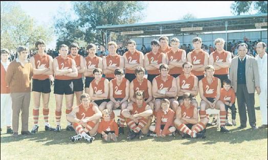 ??  ?? Premiership winners: Lemnos' 1970 winning flag team, (back) K. Collie, M. Perkins (secretary), R. Cobbledick, J. Harry, N. James, C. Walker, D. Fraser, M. Stevens, A. Cottrell, F. Flegg, W. Delmenico, S. Girardi, S. Jaques, J. McGregor (president), K....