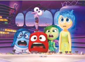 "?? DIS­NEY/PIXAR ?? Sad­ness, Fear, Anger, Dis­gust and Joy are char­ac­ters in the mind of a child in the film ""In­side Out."""