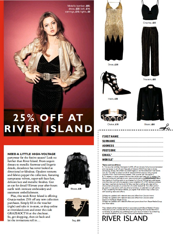 Pressreader Grazia Uk 2016 10 25 25 Off River Island