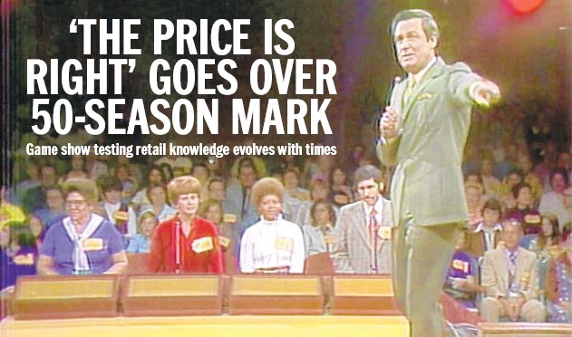 """?? CBS ENTERTAINMENT ?? Then-host Bob Barker on the first episode of """"The Price is Right,"""" which is celebrating its 50th season."""