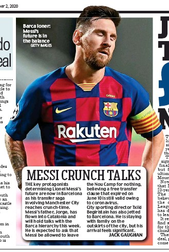?? GETTY IMAGES ?? Barca loner: Messi's future is in the balance