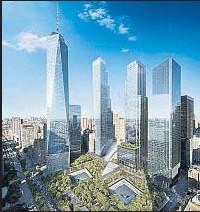 ??  ?? Un mecenas Una visión del renacido World Trade Center, en cuya área central debe ir el centro de arte que Ronald Perelman (izq.) impulsará
