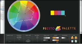 ??  ?? A giant colour wheel dominates the interface of Presto Palette.