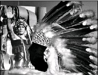 ??  ?? Jean Baptiste Paul — Chief Thunderbird — wore a full headdress when he stepped into the ring. For 22 years, he was one of Canada's best-known pro grapplers.