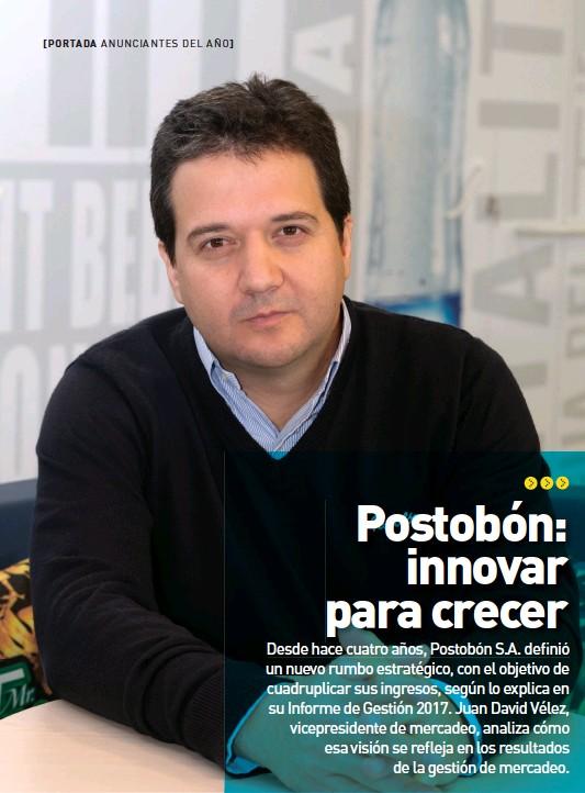 ??  ?? Juan David Vélez, vicepresidente de mercadeo de Postobón S.A.