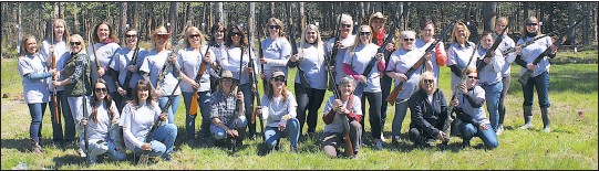 """?? PHOTO BY DOUG BISHOP ?? Twenty-seven women participated in the Kent Island Elks Lodge first """"Ladies Turkey Shoot"""", behind the lodge in Stevensville. The lodge has held Turkey Shoots for almost 40-years. In recent years, women have been permitted to compete with the men. This was the first-ever, all ladies shoot. Cash prizes were presented for each round of shooting."""