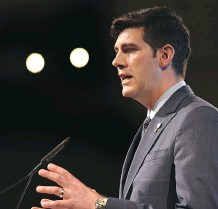 """?? ED KAISER ?? Speaking at his state of the city speech on Monday, Edmonton Mayor Don Iveson said the city has the """"right ingredients"""" to lead on health-care innovation, """"but we need to bundle them together."""""""