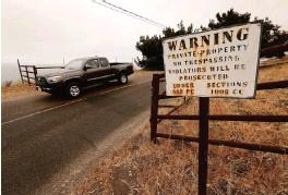 7313de561b AL SEIB Los Angeles Times. Vehicles navigate the narrow curving Hollister  Ranch ...