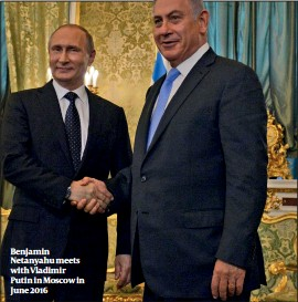 ??  ?? Benjamin Netanyahu meets with Vladimir Putin in Moscow in June 2016