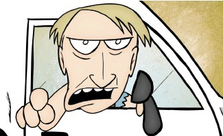 """??  ?? Joe Keithley gets the cartoon treatment in """"It Was D.O.A."""", which might make your back hurt."""