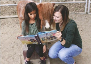 ??  ?? At Rise Canyon Ranch, horses are non-judgmental reading partners.