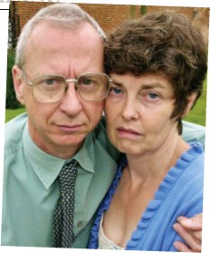 ??  ?? Anguish: Ruth's father Ian and stepmother Karen, five years after she vanished in 1995