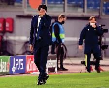 ?? LAPRESSE ?? Sconfortato Simone Inzaghi, 44 anni, deluso per la prestazione