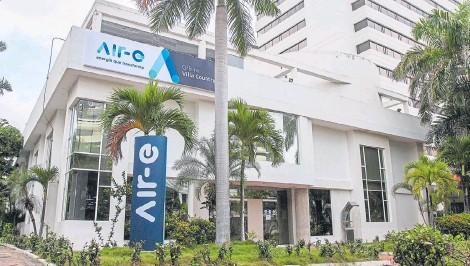?? VANEXA ROMERO- ADN ?? Así luce desde ayer una sede del nuevo operador de energía en Barranquilla, Air-e. Hasta el miércoles estaba aviso de Electricaribe.